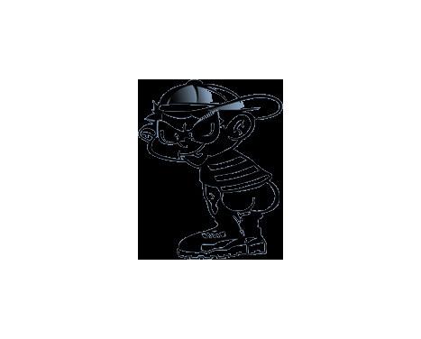 Klisterm�rke Bad Boy II - Svart - 14.5x11.5cm