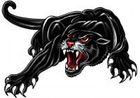Klistermärke Panther - svart - 18x12cm