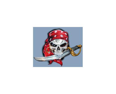 Klistermärke piratkopierar skallen - 11x9cm, bild 2