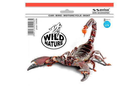 Klistermärke Skorpion - Hög kvalitet - 18,5x14 cm