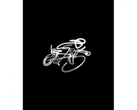Nickel Sticker 'Cyclist 2' - 60x40mm