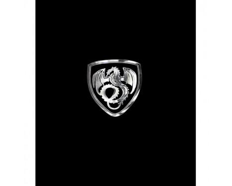 Nickel Sticker 'Dragon in a shield' - 50x45mm