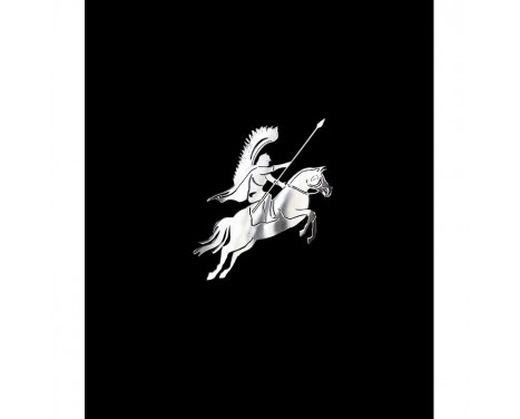 Nickel Sticker 'Polish husar on horseback' - 60x60mm