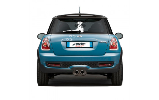Simoni Racing Sticker 'Funny Wiper Dog Pongo - Vit - 23x31,5cm