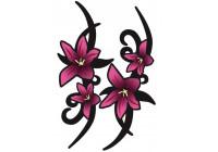 Stickerset Pink Tribal blommor - 2x 23x9cm