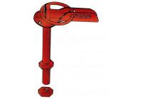 Set Universal motorhuv krokar / pin - rostfritt stål