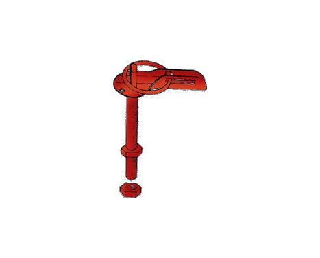 Set Universal motorhuv krokar / pin - rostfritt stål, bild 2