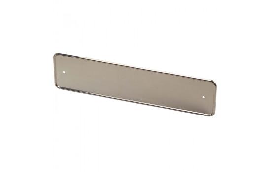 Rostfritt stål Typskylthållare Chrome 52x11cm per stycke