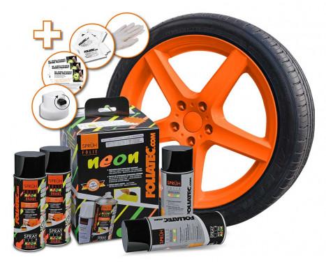 Foliatec Spray Film (Sprayfolie) - NEON orange - 4 delar