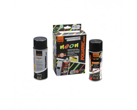 Foliatec Spray Film (Sprayfolie) - NEON röd - 2 delar, bild 2
