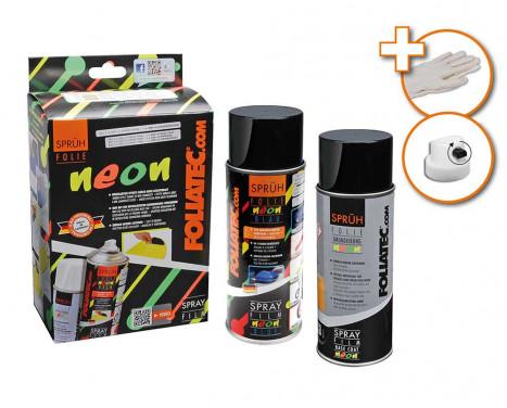 Foliatec Spray Film (Sprayfolie) - NEON röd - 2 delar