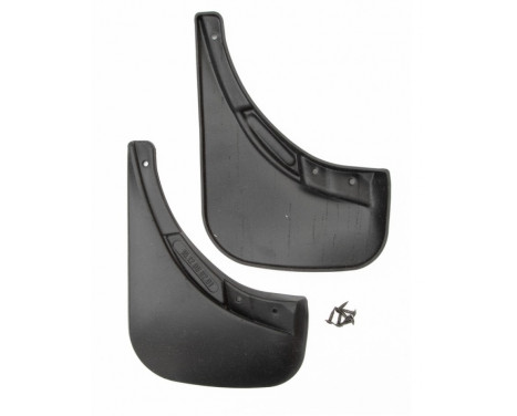 Spatelsats (mudflaps) bakom FIAT 500, 2011-> 2 st.  polyuretan