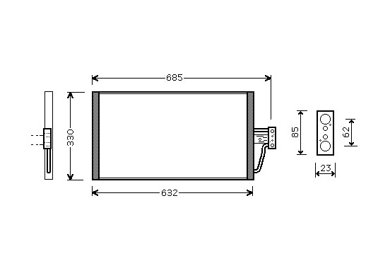 AIRCO CONDENSOR 730 D  /  740 D    vanaf '97 06005254 International Radiators