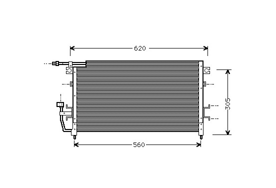 CONDENSOR COLT/LANCER3 89-92 32005096 International Radiators