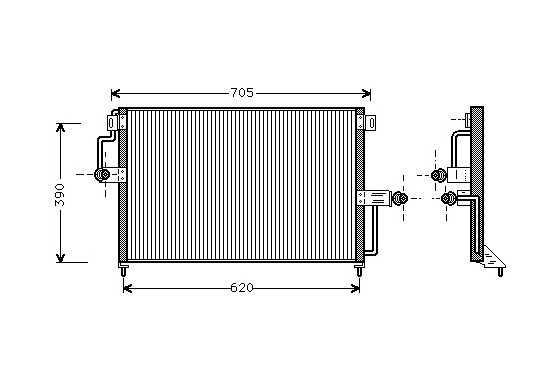 CONDENSOR CON OPE SENAT 2.0CDX/2.6 37005227 International Radiators