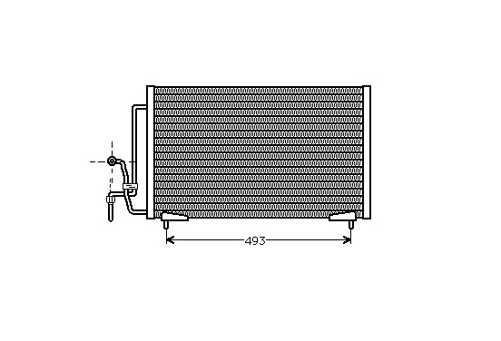 CONDENSOR COND P405 II 93-99 40005184 International Radiators