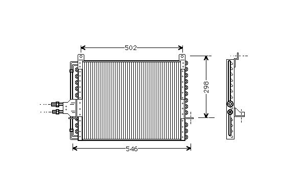 CONDENSOR Condensor 123 Serie 76-85 30005205 International Radiators