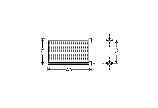 CONDENSOR E8#/E9# (1/3 Ser) ALL 04- 06006344 International Radiators
