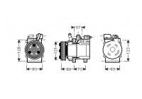 COMPRESSOR H1/H300/STAREX BUS 2.5D