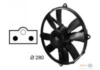 Ventilator, condensator airconditioning rechts