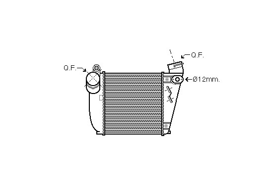 INTERCOOLER 03004354 International Radiators Plus