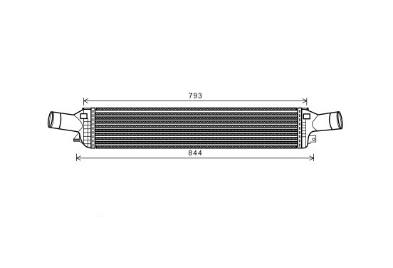 INTERCOOLER 3.0 TDi  AT 03004319 Van Wezel