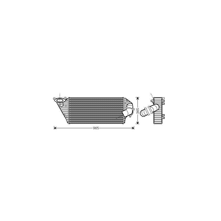 INTERCOOLER AVANTIME 43004298 Van Wezel
