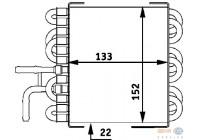 Brandstofkoeler 8MK 376 717-411 Behr Hella