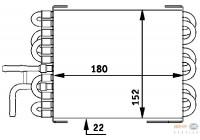 Brandstofkoeler 8MK 376 717-401 Behr Hella