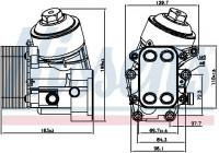 Oil cooler 91154 Nissens