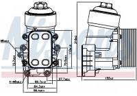 Oil cooler 91158 Nissens
