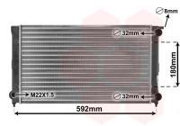 RADIATEUR 1.6 en 1.8  GLI/GTi 58002045 International Radiators