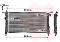 RADIATEUR BENZINE 1.2 / 1.4 / 1.6 37002183 International Radiators