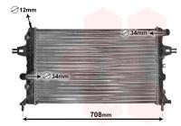 RADIATEUR BENZINE 1.4 / 1.6 / 1.8  AT met AIRCO 37002254 International Radiators