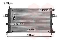 RADIATEUR BENZINE 1.4, 1.6 en 1.8 37002296 International Radiators