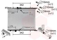 RADIATEUR BENZINE / DIESEL UNIVERSEEL 40002300 International Radiators Plus