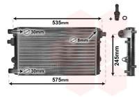 RADIATEUR FIAT SEICENTO 1.1 17002239 International Radiators Plus