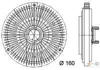 Koppeling, radiateurventilator 8MV 376 731-491 Behr Hella