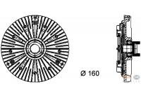 Koppeling, radiateurventilator 8MV 376 732-111 Behr Hella