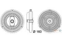 Koppeling, radiateurventilator 8MV 376 757-341 Behr Hella