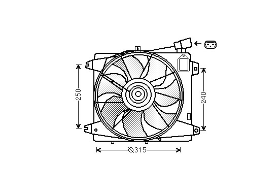 KADER + VENTILATOR  C1 1.4 HDi +A/C 0910748 International Radiators