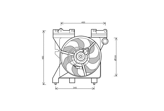 KADER + VENTILATOR  Xsara/Berlingo 1.4A/C -00 0956746 International Radiators