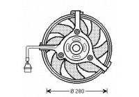 Radiator fan 300Watt/280mm
