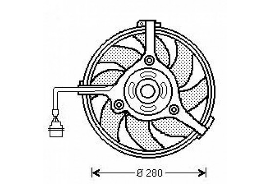 Radiator fan 300Watt/280mm 1025001 Diederichs