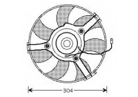 Radiator fan compleet 280mm