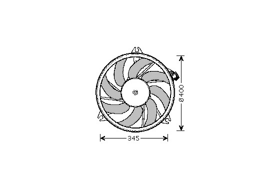 VENTILATOR  met AIRCO  39CM 4028746 International Radiators