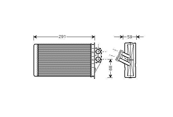 KACHELRADIATEUR Diesel 40006228 International Radiators