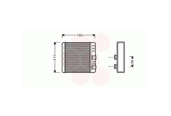 KACHELRADIATEUR met AIRCO 06006211 International Radiators