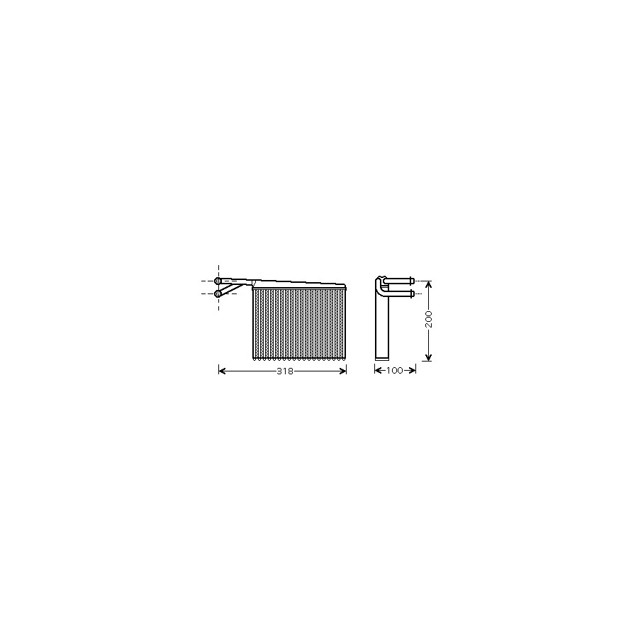 KACHELRADIATEUR met AIRCO Type Valeo 30006372 International Radiators