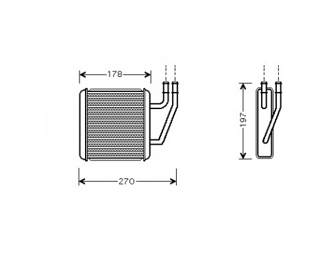 KACHELRADIATEUR Unit Achter 58006203 International Radiators